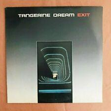 Tangerine Dream Vinyl LP Exit 1981 EX/VG+