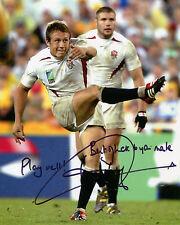 Jonny Wilkinson-Inglaterra 2003 ganador de la Copa Mundial de rugby-reimpresión firmado autógrafo