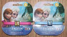 Disney Frozen -Rubber Bracelets Interchangeable Charms - Olaf & Anna - New