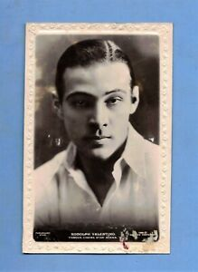 POSTCARD VINTAGE / Rudolph Valentino + shirt / Silent Movie Actor / Beagles