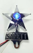 Safety Star License Plate Topper, Dual Function Blue LED, VTG Car Accessory