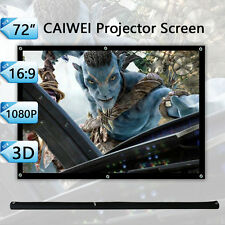 "72"" Inch 16:9 Projector Screen Portable Home Theater Outdoor Backyard Projection"