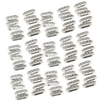 100x 3 Hole Style Metal Spacer Rhinestone Beads jewelry findings Connectors