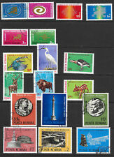 ROMANIA PAGE OF 18 SOUND C.T.O.STAMPS 1971-1980.