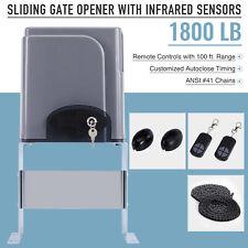 1800lbs Automatic Slide Gate Opener Motor w.Infrared sensor Remote Control key
