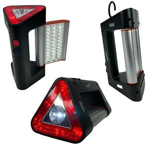 Armor All Car Truck Magnetic Red Triangle Flashing Emergency, Flood & Spot Light