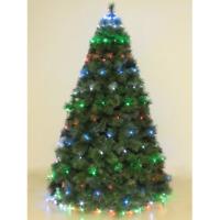 Mantello 288 luci led multicolore rgb per albero di Natale h 3,2 mt con 8 giochi