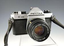 PENTAX Asahi K1000 35mm SLR w/50mm 1:2 50mm Lens, & Original Asahi Strap
