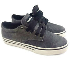 THE HUNDREDS L.A. Mens Size 8 Black Washed Jute The JOHNSON LOW Skate Sneakers