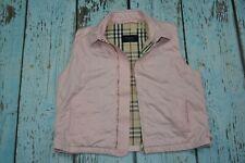 burberry sleeveless jacket pink gilet checks vest nova L large