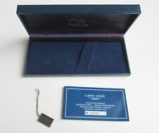1980 VINTAGE SWISS CARAN dÁCHE BALL POINT PEN CASE BOX w GUARANTEE BOOKLET & TAG