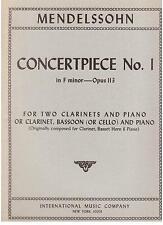 Mendelssohn: Pezzo Da Concerto N.1 Per 2 Clarinetti e Piano - International