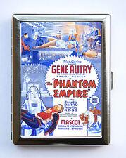 Phantom Empire Cigarette Case Wallet Business Card Holder sci-fi b-movie cowboy
