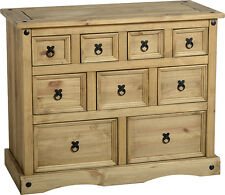 Seconique CORONA Distressed Mexican Pine 4 3 2 Drawer Merchant Chest