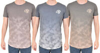 Mens Crosshatch Short Sleeve T Shirt Printed Crew Neck Cotton Soft Tee Top