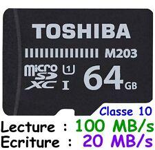 Carte Mémoire + Adaptateur KINGSTON Micro SDXC 64 Gb dispo aussi 8 16 32 128 Go