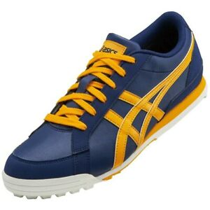 ASICS Golf Shoes GEL PRESHOT CLASSIC 3 Wide 1113A009 Navy Yellow With Tracking