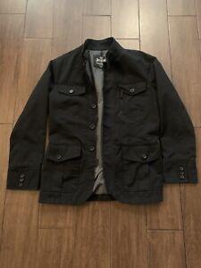 Express Men's Jacket - Black / Button Up/Zipper Up - Beautiful Condition! Size S