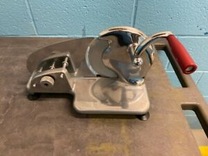 Pre-Owned Small Manual Meat Slicer Cutting Tool Good Working Condition