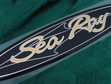 SEA RAY SEARAY BLACK GOLD CHROME SCRIPT EMBLEM BADGE LOGO OVAL RARE