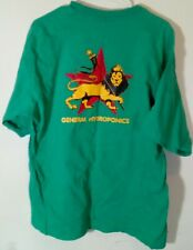 General Hydroponics Lion Cannabis Industry Green Bayside Cotton T Shirt Sz XL