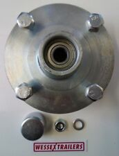 Trailer Parts, Cast Wheel Hub With Sealed Bearings 115MM PCD To Fit Daxara/Erde