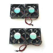 Lot of 4 Sunon KD1208PTB1 Brushless Ball Bearing Fans, 39.5CFM 80x80x25mm, 12VDC
