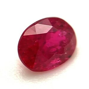 0.42ct Ruby, Oval, SI1, Madagascar, Unheated, Natural Gemstone *Video*