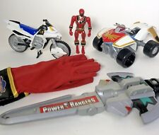 Power Rangers Mystic Force Red ranger blue cycle vehicle sword cosplay toy lot