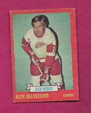 1973-74 OPC #  1 RED WINGS ALEX DELVECCHIO  VG CARD (INV# 8013 )