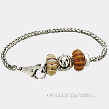 "Authentic Trollbeads Sterling Silver Halloween 7.5"" Bracelet P50673 LMTD *SALE*"
