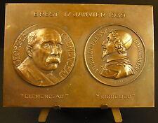 Medaille Brest 17 janvier 1939 Mise à l'eau du cuirassé Richelieu G Clémenceau