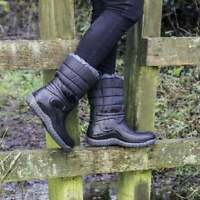 Mud Dogs Womens Ladies EXTRA WARM Lined Wellington Boots Black - MADE IN ITALY