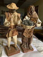 Paper Mache Village People Mexica Folk Art Figurine Sculpture Ethnic Culture
