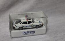 Saab 900 Polis + Polisen Swedish Police + Wiking 1:87 + mint boxed + Polizei +