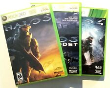 HALO 3 HALO ODST HALO 4 Three Disk Lot XBOX 360 Video Game Manual Case A33-10
