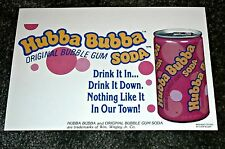 Cool 1970's Hubba Bubba Soda Cardboard Point of Sale Sign