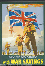 Advertising Postcard - Military - Back The Great Attack With War Savings  BT743