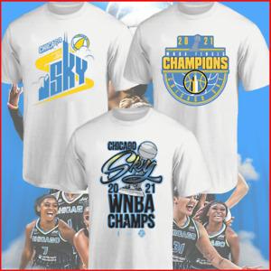 HOT NEW!! Chicago Sky 2021 WNBA Finals Champions T-Shirt Unisex - White