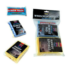 KENT CAR CARE WINDSCREEN VALET KIT SCREEN WASH + MICROFIBRE DEMIST PAD + SPONGE