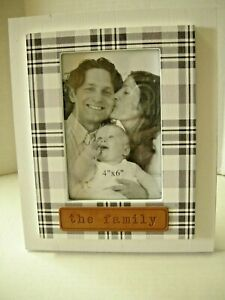 """Picture Frame By Young's, The Family Theme, 9"""" x 7"""", Wood, Brand New"""