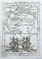 AFRICA, SAHARA DESERT Allain Mallet original antique map 1719