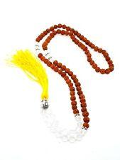 Quartz Rudraksha Bouddha Cristal 7mm Perle Env. Mala de Rosaire Méditation Yoga