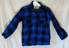 Boys Primark Blue Black Check Brushed Cotton Long Sleeve Shirt Age 2-3 Years
