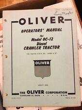 Original 1955 Oliver Oc 12 Diesel Crawler Tractor Operators Manual
