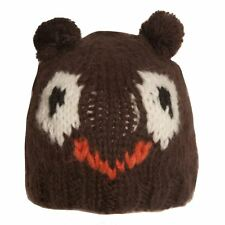 Ladies Brown Animal Owl Beanie Hats - Onesize fits most