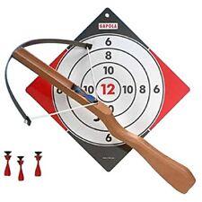 Holz-Armbrust für Kinder mit 8 Pfeilen und Zielscheibe Kinder Armbrust
