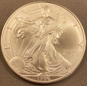 1996 Silver American Eagle Dollar - BU - Key Date