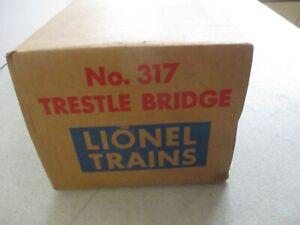 VINTAGE LIONEL TRAINS NO. 317 TRESTLE BRIDGE IN ORIGINAL BOX