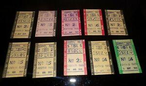 10 Vintage 60's Columbus Nebraska Horse Racing Betting Ticket Stubs Race Track